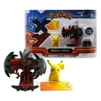 """Tomy Pokemon Figür 2'Li Set: Pikachu-Yveltal 2""""-3"""""""