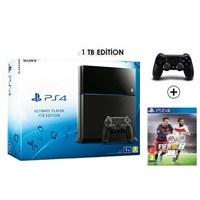Sony Playstation 4 Ultimate 1Tb Oyun Konsolu + Fıfa 2016 + 2. Kol