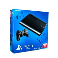 Sony Playstation 3 500 GB ( Süper Slim Kasa ) Konsol + 1 Kol + Gran Turismo 5 Oyunu+ Pes 2013 + Far Cry + Call Of Duty