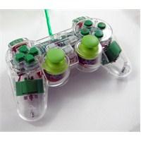 Trilogic GP810 Analog LED USB PC Uyumlu Gamepad (Yeşil)