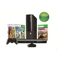 Xbox 360 250 gb Konsol + Kinect Sensör + Kinect Sport 2 + Kinect Adventures Oyun + Forza Horizon Kod + 1 Ay Live Üyelik