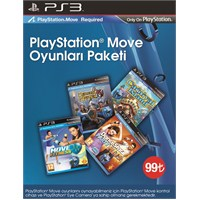 Sony Ps3 Move Oyun Paketi Medieval Moves + Move Fitness + Carnival Island + Dance Star Party Hits