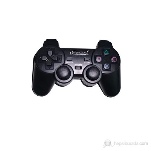 Kontorland PS-3002 2.4 Hz Wireless Analog Game Pad PS3/PS2/PC USB