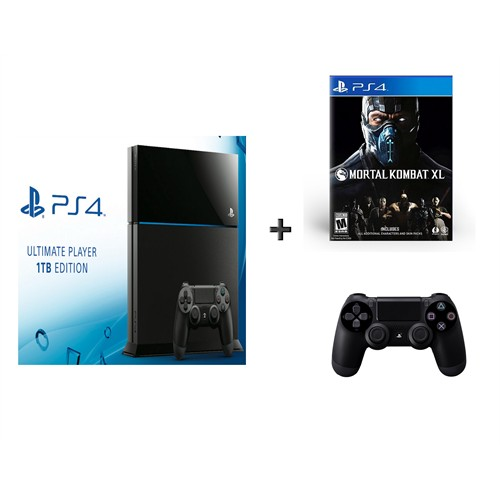 Sony Playstation 4 1 Tb Ultimate Player Edition Oyun Konsolu + Mortal Combat Xl + 2. Kol