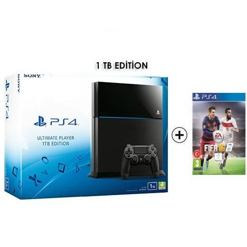 Sony Playstation 4 Ultimate 1Tb Oyun Konsolu + Fıfa 2016 Ps4 Oyun