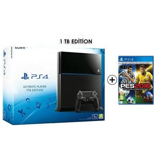 Sony Playstation 4 Ultimate 1Tb Oyun Konsolu + Pes 2016 Ps4 Oyun