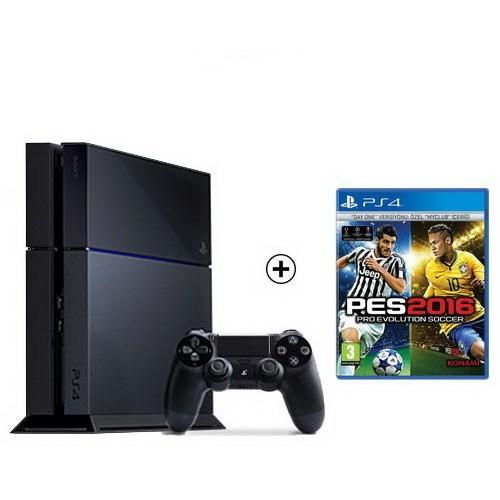 Sony Playstation 4 500Gb Oyun Konsolu + Pes 2016 Ps4 Oyun