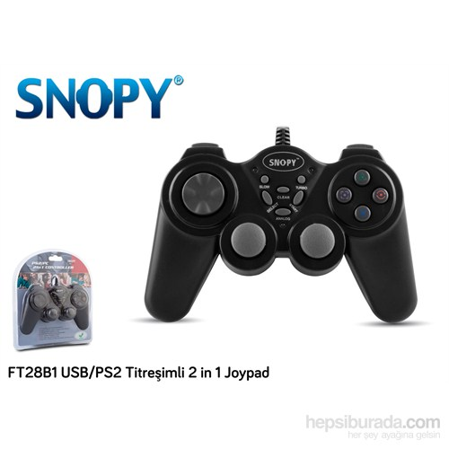 Snopy FT28B1 USB/PS2 Titreşimli 2 in 1 Joypad