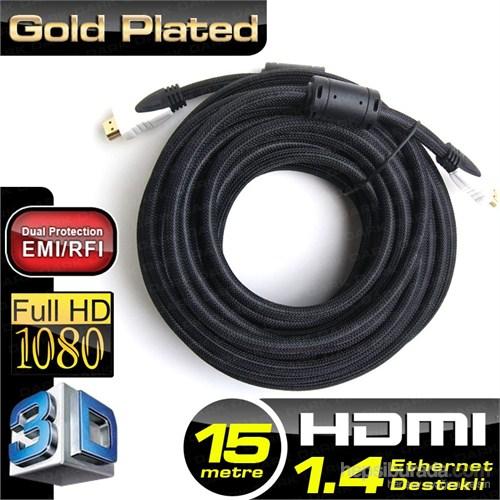 TX 15m HDMI v1.4 3D ve Ağ Destekli Altın Uçlu Kablo (TX-HD-CV14L1500PS)