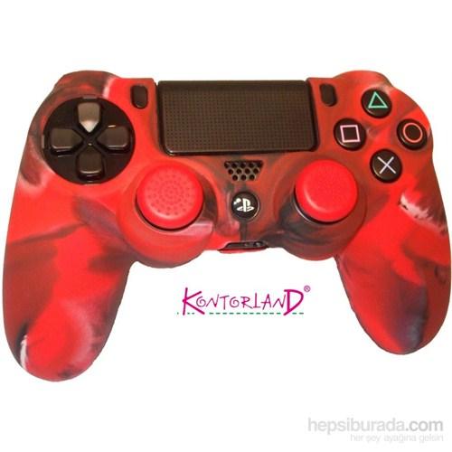 Kontorland Gamepad Silikon Kılıf PS4 (Kırmızı)
