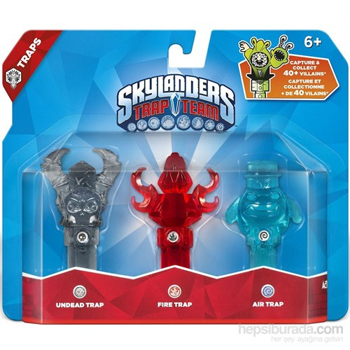 Skylanders Trap Team Tuzak 3lü Undead+Fire+Air