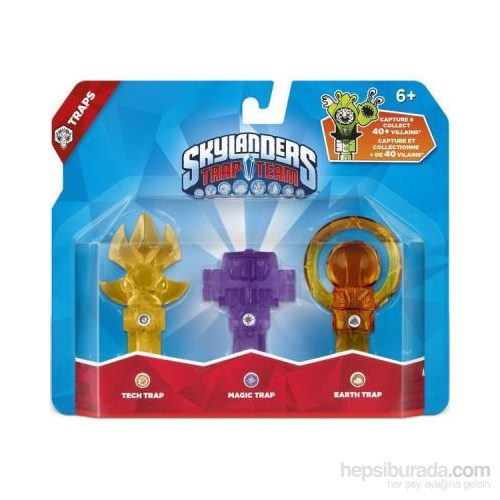 Skylanders Trap Team Tuzak 3lü Tech+Magic+Earth