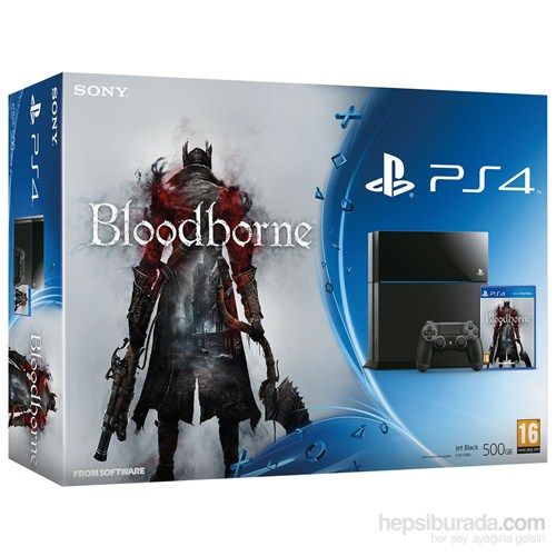 Sony Playstation 4 500 GB+Bloodborne Oyun Konsolu