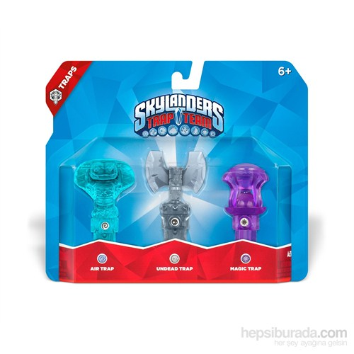 Skylanders Trap Team 3'lü Tuzak Air + Undead+ Magic