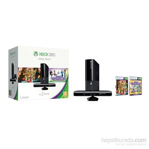 Microsoft Xbox 360 500 gb + Kinect Sensör + Kinect Sports Ultimate + Kinect Adventures