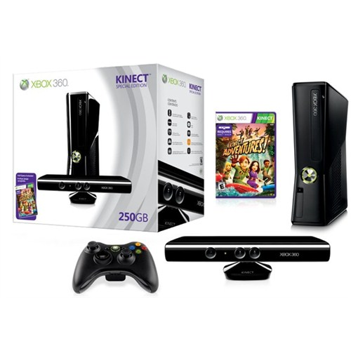 Xbox 360 250 gb Konsol + Kinect Orijinal Bundle