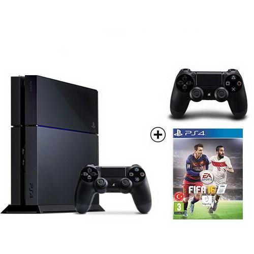 Sony Playstation 4 500Gb Oyun Konsolu + Fıfa 2016 + 2. Kol