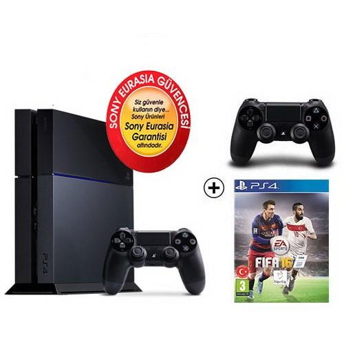 Sony Eurasia Playstation 4 500Gb Oyun Konsolu + Fıfa 2016 + 2. Kol