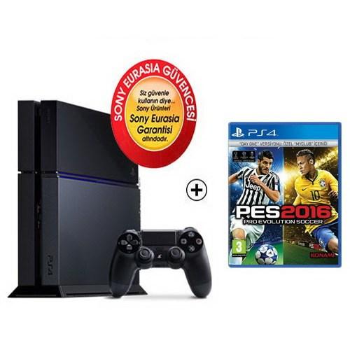 Sony Eurasia Playstation 4 500Gb Oyun Konsolu + Pes 2016 Ps4 Oyun