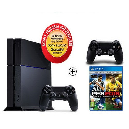 Sony Eurasia Playstation 4 500Gb Oyun Konsolu + Pes 2016 + 2. Kol