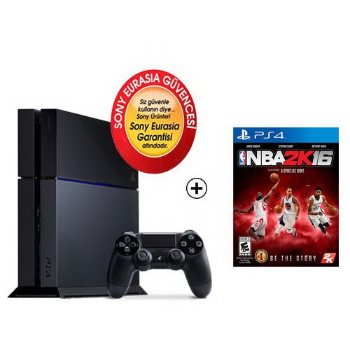 Sony Eurasia Playstation 4 500Gb Oyun Konsolu + Nba 2K16 Ps4 Oyun