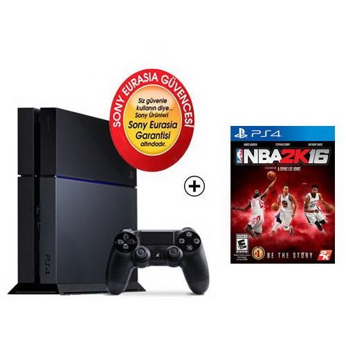 Sony Eurasia Playstation 4 500Gb Oyun Konsolu + Nba 2K16 Ps4 Oyun