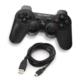 TX FreeShot 2.4GHz Kablosuz, Çift Analog, Dualshock Titreşimli PS3 / PC Gamepad