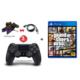 Gta 5 Ps4 Oyun + Sony V2 Ps4 Kol + Çiftli Şarj Kiti + Usb Şarj Kablosu