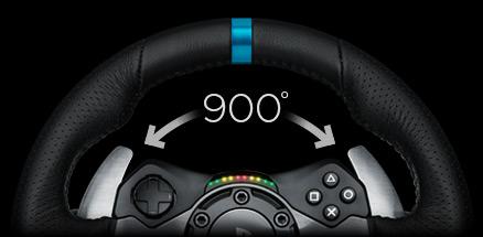 1168abe24cb 900° Dönüş. Pistte gerçekçi dönüşler için. G29 Driving Force'un 900  derecelik direksiyon ...