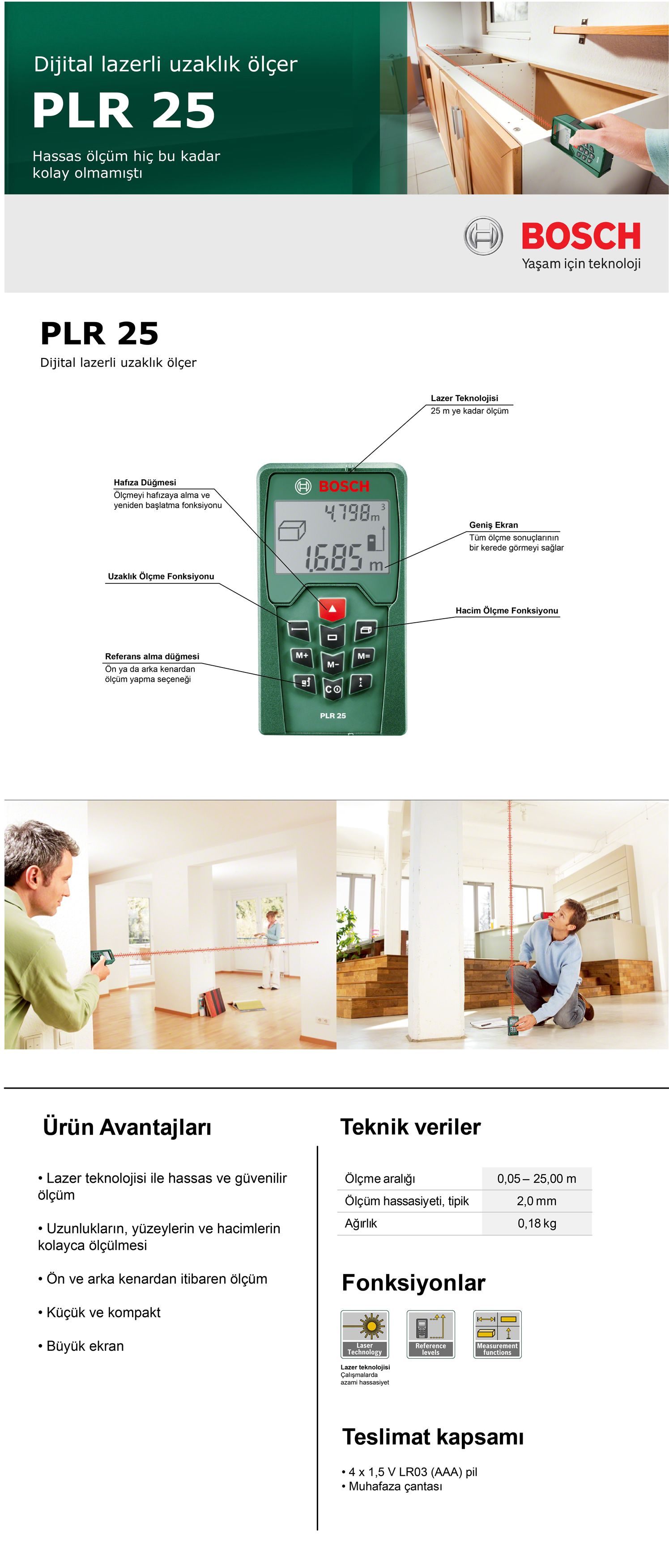 bosch plr 25 lazermetre modelleri ve fiyatlar tekzen. Black Bedroom Furniture Sets. Home Design Ideas