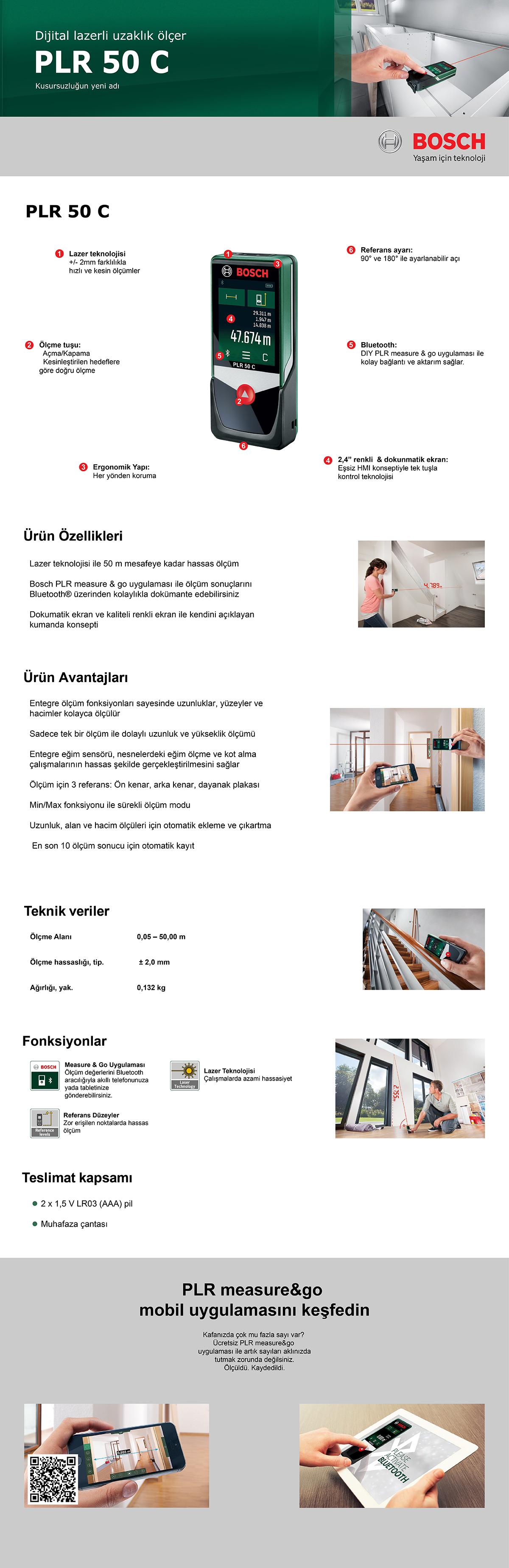 bosch plr 50 c lazerli uzakl k l er fiyat taksit se enekleri. Black Bedroom Furniture Sets. Home Design Ideas
