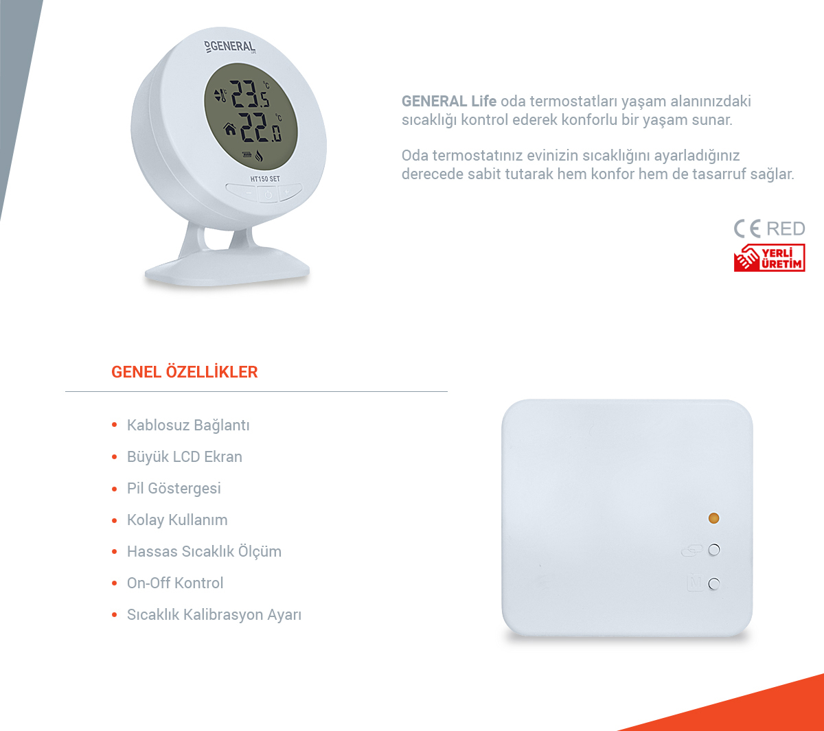 General Ht 150 Set Dijital Kablosuz Oda Termostatı Fiyatı