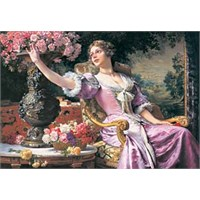 Castorland 3000 Parça Puzzle Lady in Purple Dress