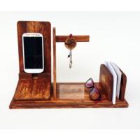 Ahşap Tasarım Kahverengi Telefon Şarjlığı