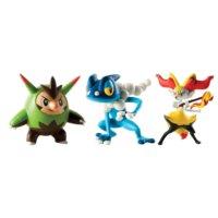 """Tomy Pokemon Figür 3'Lü Set: Quilladin-Braixen-Frogadier 3"""""""