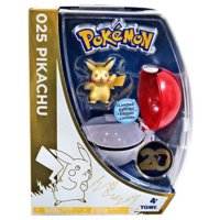 Tomy Pokemon 20Th Anniversary Pikachu Ve Metallic Pokeball Set