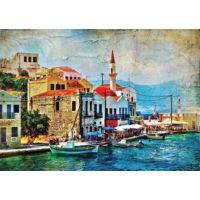 Gold Puzzle 1000 Parça Akdenizde Sahil Kasabası Puzzle