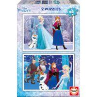 Educa 2x48 Parça Frozen Puzzle