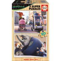Educa 2x50 Parça Zootropolis Ahşap Puzzle