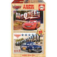 Educa 2x25 Parça Disney Cars Ahşap Puzzle