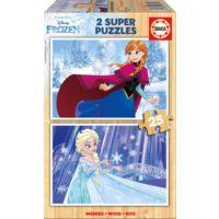 Educa 2x25 Parça Disney Frozen Ahşap Çocuk Yapboz