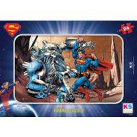 Ks Games 24 Parça Frame Çocuk Puzzle Superman