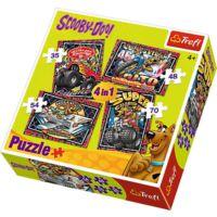 Trefl Scooby Doo 4'lü Puzzle (35+48+54+70 Parça)