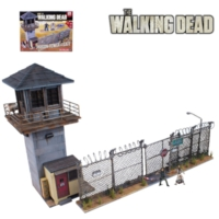 Mcfarlane Toys The Walking Dead Prison Tower Building Set With Figures