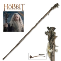 United Cutlery Hobbit Staff Of Gandalf Gray With Pipe And Display