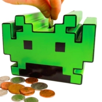 50Fifty Space Invaders Sesli Kumbara