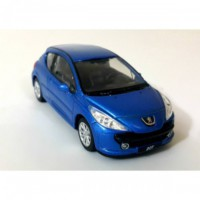 Welly 1:36 Peugot 207 Metal Araba Mavi