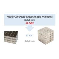 Neodyum Mıknatıs Magnet 8X8X8Mm Küp 20 Adet