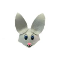 Toptancı Kapında Tavşan Model Şapka - Gri