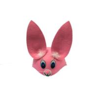 Toptancı Kapında Tavşan Model Şapka - Pembe